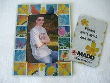 """2 PC M.A.D.D. """"Mothers Against Drunk Driving"""" PICTURE FRAME MAGNET From 1995-96"""