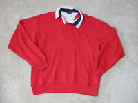 VINTAGE Nautica Sweater Adult Large Red Navy Blue Sailing Yachting Mens 90s