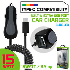 Compact USB-C Cigarette Lighter Car Charger for Samsung Galaxy S9+ Smart Phones