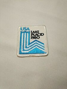 Vintage USA Olympics Embroidered Patch Lake Placid, New York 1980