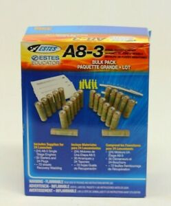 New Estes A8-3 Bulk Pack Lot ~ 24 Launches with Starters and Plugs