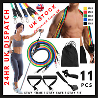 11 pcs Resistance Bands Set For Home Exercise, Workout, Yoga, Fitness, CrossFit
