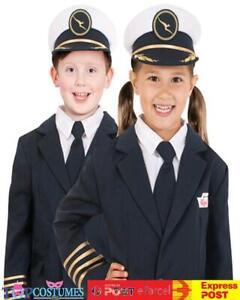 Qantas Pilot Hat Uniform Airline Flight Child Kids Boys Girls Costume