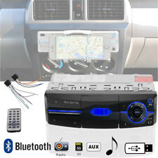 12V LCD 1 DIN Car Stereo FM Radio Bluetooth In Dash MP3 Player w/ Phone Holder