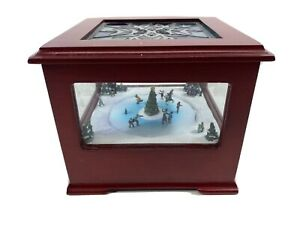 Mr Christmas Animated Scene Wood Music Box