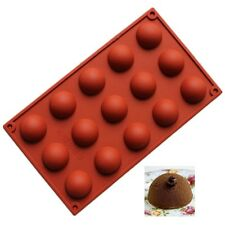 15 Half Sphere Ball Silicone Chocolate Mould Ice Cube Tray Dessert Bake DIY Mold