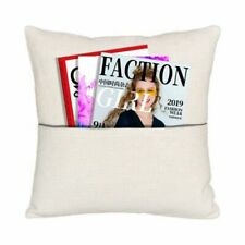 New Listingusa Pillow Case Sublimation Blank With Front Pocket Diy Printed Home Sofa Decor