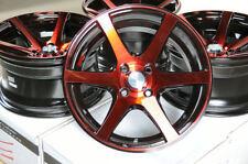 15 Wheels Civic Mini Cooper Clubman Accord  Miata Corolla Black Red Rim 4x100