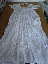 Sensational Q White Cotton Boho Chic Vintage Floaty MAXI DRESS, Exquisite!! M