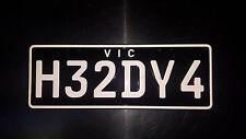 Victorian Custom Number Plates - H32DY4, Custom Car Hummer etc