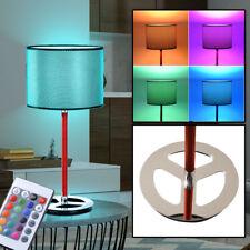 LED RVB Lampe De Table Tissu Marché du travail Chambre Lampe intensité variable