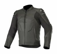 GIUBBOTTO MOTO ALPINESTARS CALIBER LEATHER JACKET BLACK PELLE PROTEZIONI CE