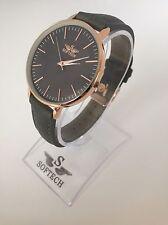 F&MJ738 Rose Gold & Grey Ladies Watches Women Fashion Softech Quartz Wrist Watch