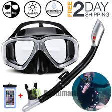 2020 Half Face Snorkeling Set Scuba Diving Goggles Dry Swim Mask Anti-Fog +Tube