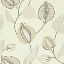 John Lewis Harlequin Folia Tembok Wallpaper - 110305 - Brown Cream Silver Gold
