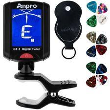 Anpro JT-10 Clip-On Digital Tuner Stimmer + 12 x Plektrum Plektron Picks mit ...