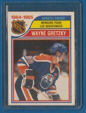 WAYNE GRETZKY Assists Leaders   1985-86 O-Pee-Chee OPC #258