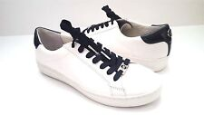 New Michael Kors Women's Keaton Kiltie Leather Sneaker / White & Blue Sz 8.5 M