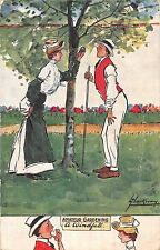 POSTCARD  COMIC   AMATEUR GARDENING  A  Windfall      THACKERAY      TUCK