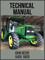 John Deere 6405 6605 Tractor Repair Technical Manual TM4866 On USB Drive