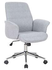 SixBros. Bürostuhl Schreibtischstuhl Drehstuhl Stoff Grau 0704M/2488