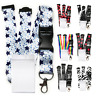 Safety Lanyard Neck Strap and Clear Waterproof Vertical ID Badge holder Spirius