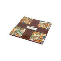 """Treasures Of Alexandria Multi 10"""" Fabric Quilt Squares Layer Kaufman TEN-742-42"""