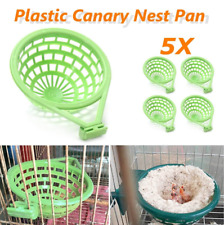5Pcs Plastic Canary Nest Pan For Parrots Nesting Canaries Finches Cage Eggs 14cm