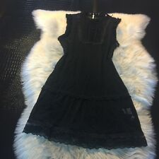 Free People Black All Lace Sexy Dress Size Medium NICE!