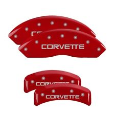MGP Caliper Covers Engraved Front & Rear for 88-96 Corvette C4 Red