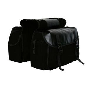 Waterproof Motorbike Saddle Bag Motorcycle Canvas Panniers Box Side Tools Bag