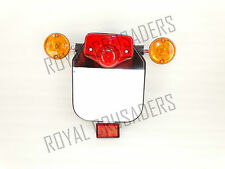 ROYAL ENFIELD REAR NUMBER PLATE WITH INDICATOR, TAIL LIGHT & REFLECTOR (code1693