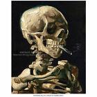 Vincent van Gogh Poster Art Print - Skull of a Skeleton with Burning Cigarette