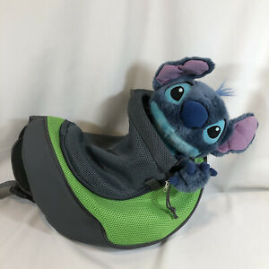Green/Gray Soft Mesh & Leather Pet Carrier Small Dog Cat Rabbit Tote Sling Bag