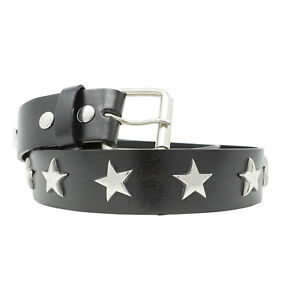 MENS SILVER STAR STUD BELT STAR SPANGLED HOT TOPIC REMOVABLE BUCKLE
