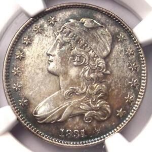 1831 Capped Bust Quarter 25C - NGC Uncirculated Dets (UNC MS) - B-3, Rarity-5 R5