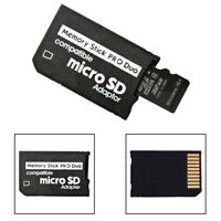 EG_ Memory Stick Pro Duo Adapter Micro SD SHDC TF Card Reader for Sony & PSP New