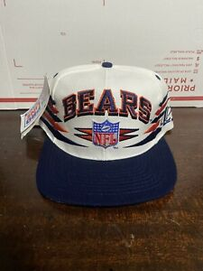 Vintage Chicago Bears Vintage Logo Athletic Diamond Cut DEADSTOCK Snapback Hat