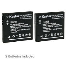 Kastar 2 Lithium-Ion Battery for Panasonic DMW-BCK7 DMC-FH2 FH4 FH5 FH6 FH7 FH8