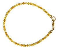 Bernstein Armband 925 Silber vergoldet Armkette Z453