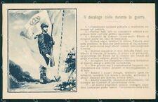 Militari Propaganda WWI Decalogo Civile durante la Guerra cartolina XF0641