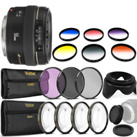 Canon EF 50mm f/1.4 USM Lens Filter Accessory Kit for Canon SL1 SL2