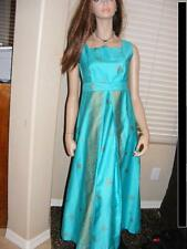 New listing Hawaiian Malihini Maxi Dress Hawaii Designer Vintage 1950s Turquoise Sz 4 6