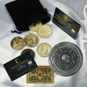 John Wick 4 Coins Blood Oath Marker, Continental Hotel Card Fans Collection Prop