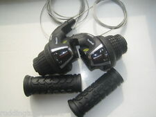 Shimano Cycle / Bike Revoshift 21 speed Twist Grip Gear Shifters 7 + 3 inc grips