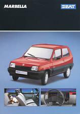 Seat Marbella Prospekt 4 90 1 Bl  brochure 1990 Auto PKWs Autoprospekt Broschüre