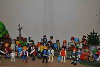 10 random playmobil figures men people children police pirates fire victorian !!