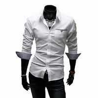 Luxury Mens Tops Designer Long Sleeve Casual Dress Shirt Slim Fit Formal Shirts