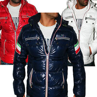 JEEL MEN'S WINTER JACKET ITALY CHILE SHINY LACQUER LEATHER-LOCK NEW