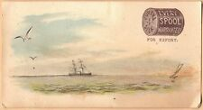 Victorian Trade Card: Eureka Silk Sewing Thread - Ship